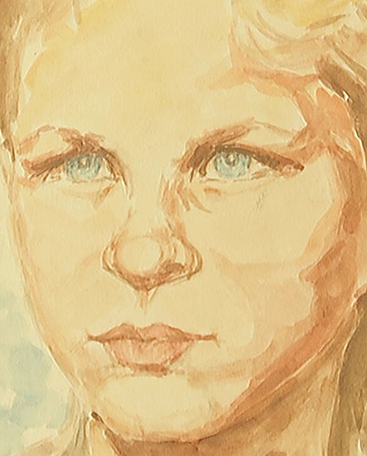 przedstawiający portret dzieczyny