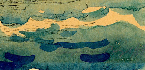 przedstawia plażowiczów nad Bałtykiem. Obraz namalował EUGENIUSZ BOŻYK