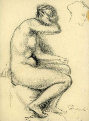 Obraz wykonany ołówkiem na papierze
