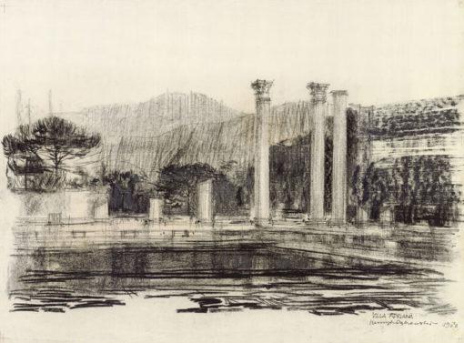 Grafika przedstawiająca Rzym - Villa Adriana