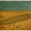 Grafika przedstawiająca wydmy na afrykańskiej pustyni. Litografia