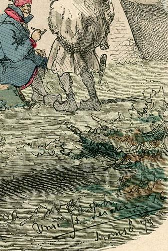 """z serii """"Blätter für Kostümkunde"""" w 1873 r. Sygnowana w prawym dolnym rogu."""
