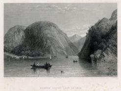 Staloryt z jeziorem George wykonany w 1839 roku przez artystów: T. Creswick i J. Cousen