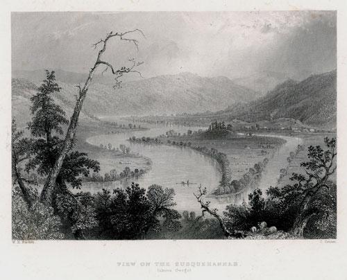 Staloryt z serii widoków Ameryki północnej wykonany w 1839 roku przez artystów: J. Cousen i W.H. Barlett.