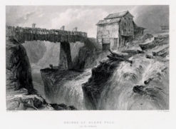 Staloryt z serii widoków Ameryki północnej wykonany w 1839 roku przez artystów: W.H. Barlett
