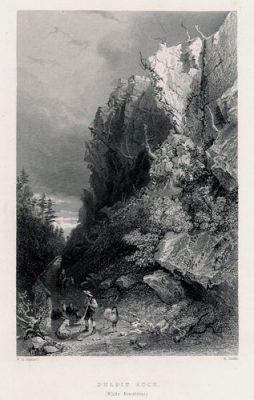Pulpit Rock w Górach Białych