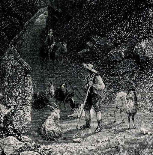 USA - grafika wykonany w technice stalorytu w 1839 roku przez artystów:  WH Barlett
