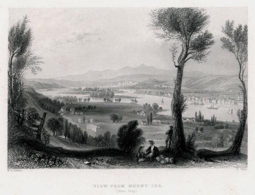 Staloryt z widokiem z góry Mount Ida wykonany w 1839 roku przez artystów: W.H. Barlett