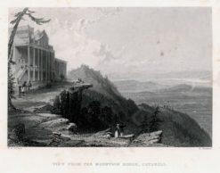 Pejzaż górski przedstawiający widok z Catshill