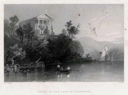 Pejzaż przedstawiający widok na kaplicę pw. Lady of Cold Spring