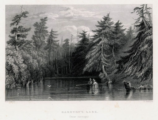 Pejzaż z jeziorem Barhydt's koło Saratogi