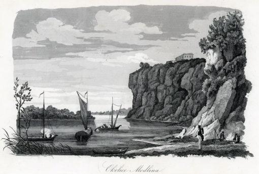 Grafika przedstawiająca Wisłę w pobliżu Modlina