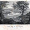 """Oryginalna litografia """"Zamek w Olesku"""" w Złoczowie wydana nakładem K. Jabłońskiego we Lwowie. Rysował z natury i litografował Maciej Bogusz Stęczyński w 1847 roku."""