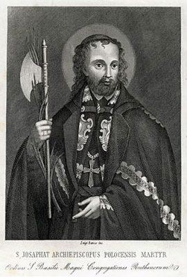 Portret męczennika wykonany w technice stalorytu w I połowie XIX wieku przez włoskiego artystę Luigi Banzo.