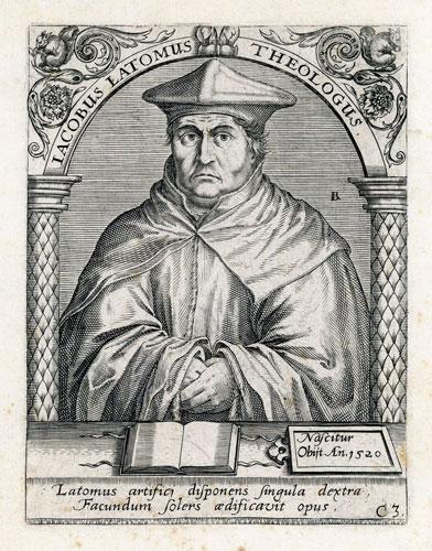 Portret Iacobusa Latomusa w technice miedziorytu wykonany w XVI wieku