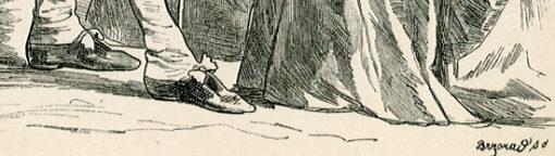 przedstawiająca francuską burżuazję w strojach z końca XVIII w.