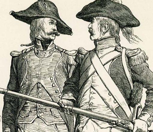 przedstawiająca stroje francuskiego wojska z 1795 roku