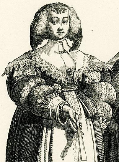 przedstawiająca parę Francuzów w strojach dworskich z połowy XVII w..