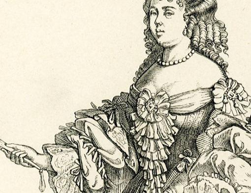 przedstawiająca parę Francuzów w strojach z końca XVII w..