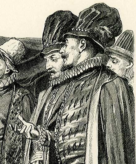 przedstawiająca mieszkańców Padwy w kondukcie żałobnym
