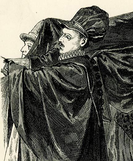 w XVII-wiecznych strojach.