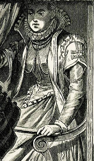 przedstawiająca damę w lektyce i 2 szlachciców z Neapolu w XVII-wiecznych strojach.
