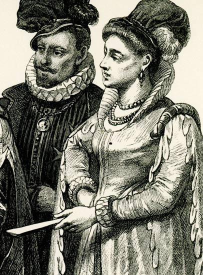przedstawiająca historyczne stroje mieszkańców Wenecji