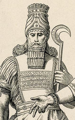 przedstawia mężczyzn w starożytnych strojach.
