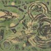Monotypia na papierze autorstwa Witolda Jańczaka (1912-1985) przedstawiająca ptaki wkomponowane w abstrakcyjne tło. Lata 60-te