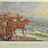 Grafika z reprodukcją obrazu Wojciecha Kossaka upamiętniająca wydarzenie z 1920 roku. Grafika wydana została przez Wydawnictwo Salonu Malarzy Polskich w Krakowie.