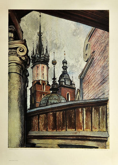 Grafika z reprodukcją obrazu Stanisława Wyspiańskiego wykonana techniką druku barwnego z rotograwiurą