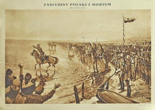 Grafika z reprodukcją obrazu Zygmunta Wierciaka wydana we Lwowie w 1929 roku przez J. Makłowicza