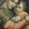 Niemiecka chromolitografia z ok. 1880 r. z wizerunkiem Matki Boskiej z Dzieciątkiem Jezus.