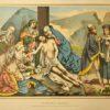 Chromolitografia ze sceną zdjęcia Jezusa z krzyża. Grafika wykonana w krakowskim zakładzie M. Salba nawiązuje do rzeźb ołtarza Wita Stwosza