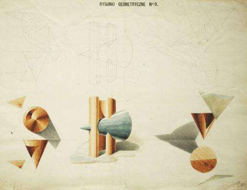 Rysunki akademickie figur geometrycznych