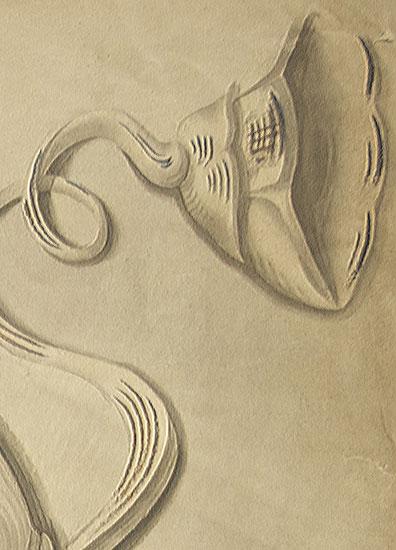 przedstawiający fragment dekoracji architektonicznej