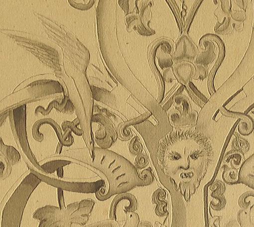 sygnowany przez Teodora Tlachnę w 1864 roku