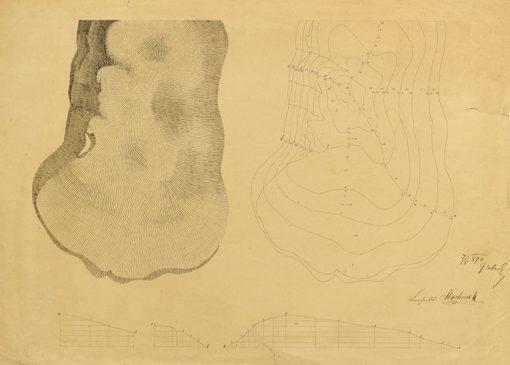 Rysunek piórkiem wykonany  w 1870 roku przez Leopolda Tlachnę