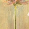 Kwiat rysowany pastelą na papierze pod koniec XIX wieku przez Waleriana Krycińskiego
