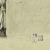 przedstawiający antyczny element architektoniczny - fragment fryzu. Sygnowany w prawym dolnym rogu: J. Gomoliński