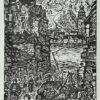 Grafika na papierze ilustrująca wiersz Jerzego Harasymowicza