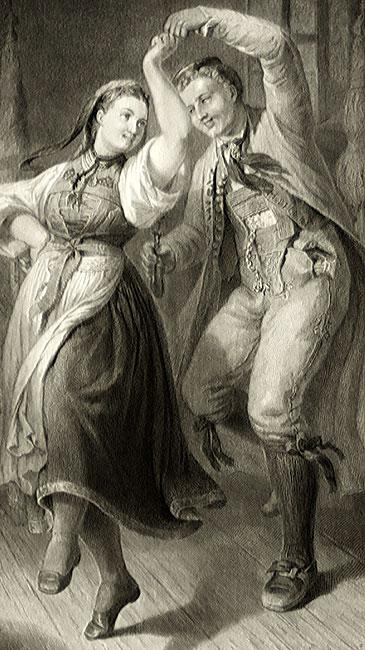 wykonany przez A. Wagenmann według obrazu malarza: R. Heck w II połowie XIX wieku.