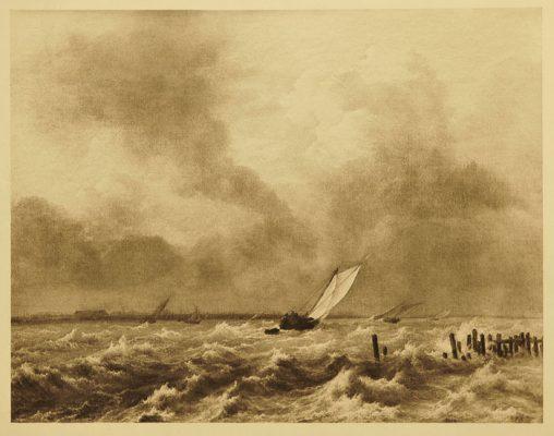 Grafika na papierze z przełomu XIX i XX wieku wykonana w technice rotograwiury