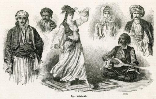 """Grafika wykonana w technice drzeworytu sztorcowego w 1878 roku jako ilustracja czasopisma """"Kłosy""""."""