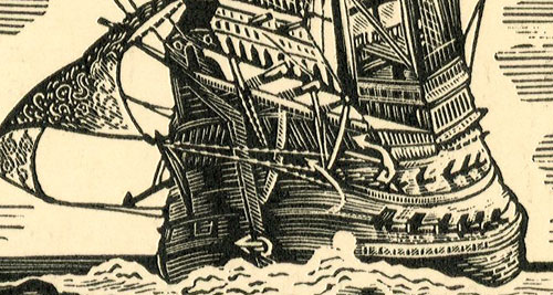 """przedstawiający statek Henryka VIII """"Henri grace a Dieu"""""""