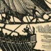 przedstawiający statek egipski ok. 1500 lat pne.