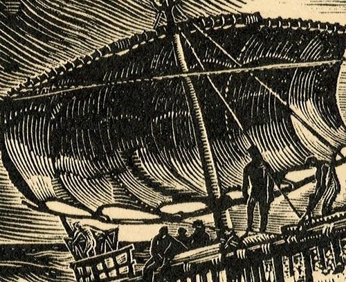 przedstawiający statek z epoki kultury minojskiej
