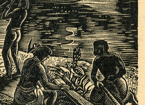 przedstawiający budowę statku w Egipcie ok 2700 lat przed naszą erą.