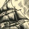 przedstawiający angielski statek lorda Nelsona Victory