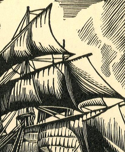 """przedstawiający angielski statek lorda Nelsona Victory"""" z 1765 r."""